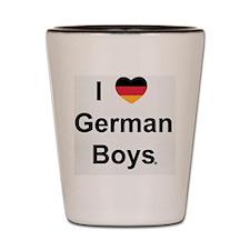 i-love-german-boys_design Shot Glass