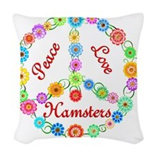 hamsters Woven Throw Pillow