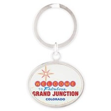 GRAND JUNCTION DARK Oval Keychain