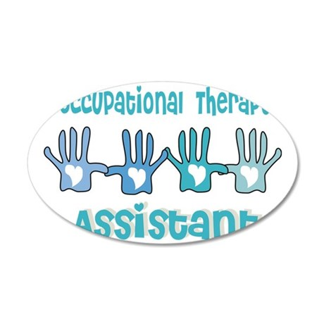Occupational Therapy Assista 35x21 Oval Wall Decal