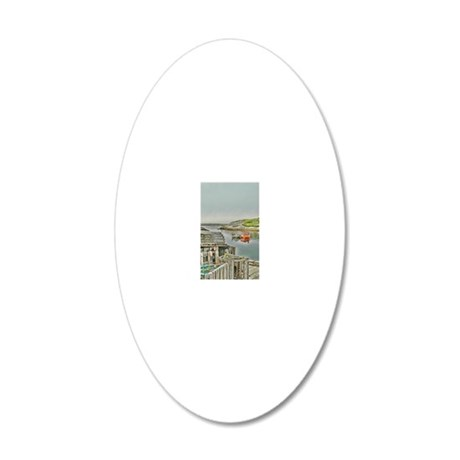 lobster_cages_ipad 20x12 Oval Wall Decal