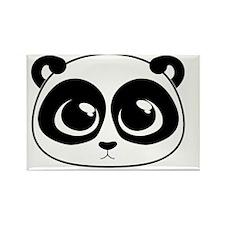 cute_panda_reverse Rectangle Magnet