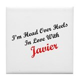 In Love with Javier Tile Coaster