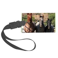 3 Roan Horses Luggage Tag