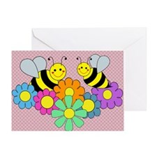 blanketbeesflowers2 Greeting Card