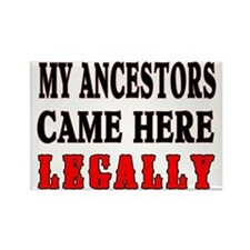 ANCESTORS LEGALLY Rectangle Magnet