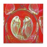 Love Birds Tile Coaster