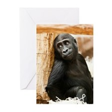Cute Baby Gorilla Greeting Cards