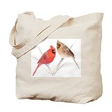 Northern Cardinal male &amp; fema Tote Bag