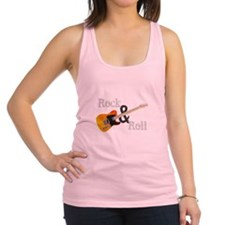 Rock and Roll Guitar Racerback Tank Top