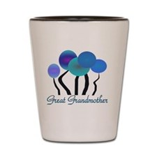 Great Grandmother blue trees Shot Glass