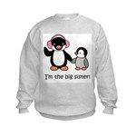 Big Sister - Penguin Kids Sweatshirt