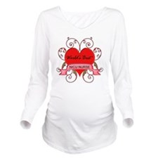 Worlds Best NICU Nur Long Sleeve Maternity T-Shirt