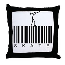 Bar_Code_Skate Throw Pillow