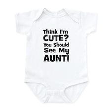 Think I'm Cute? Aunt - Black Onesie