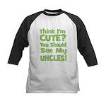 Think I'm Cute? UncleS (Plura Kids Baseball Jersey