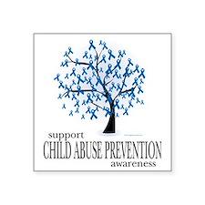"Child-Abuse-Tree Square Sticker 3"" x 3"""