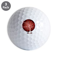 AIDSHIV-Tree-blk Golf Ball