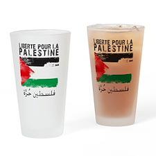 freepalestineengfren Drinking Glass