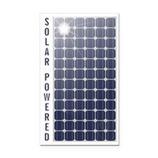 Solar Powered Solar Panel Rectangle Car Magnet