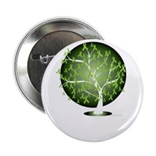 "Non-Hodgkins-Lymphoma-Tree-blk 2.25"" Button"