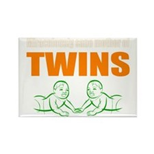 Sane mother of twins Rectangle Magnet