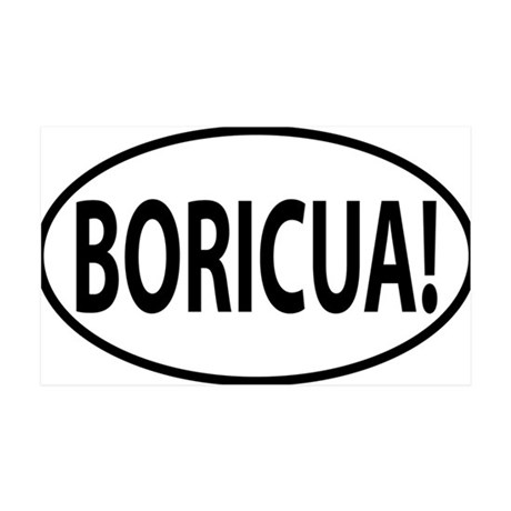 BORICUA 35x21 Wall Decal
