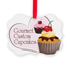 small poster gourmet custom cupca Ornament