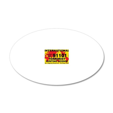TH-License-INTERNATIONAL 20x12 Oval Wall Decal
