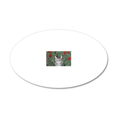 RousseausDreamCat5x7 20x12 Oval Wall Decal