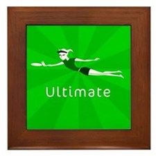 Ultimate Frisbee Framed Tile