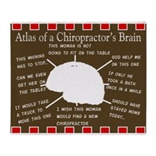 atlas of a chriopractors brain 2 Throw Blanket