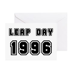 LEAP DAY 1996 Greeting Cards (Pk of 10)