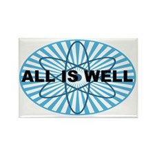 All Well blue-atomoval-arial Rectangle Magnet