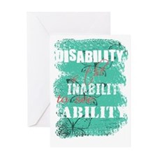 Awareness tee disability is pastel Greeting Card