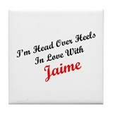 In Love with Jaime Tile Coaster