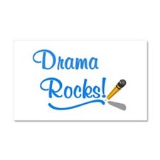 Drama Rocks Car Magnet 20 x 12