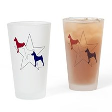 Patriotic Basenji Drinking Glass