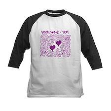 Purple Heart Design Baseball Jersey