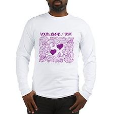 Purple Heart Design Long Sleeve T-Shirt