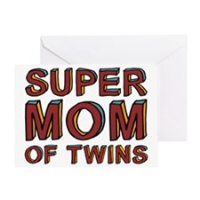 SuperMOMofTwinscpSize Greeting Card