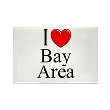 """I Love Bay Area"" Rectangle Magnet"