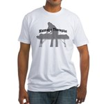 Massage Therapy Table Fitted T-Shirt