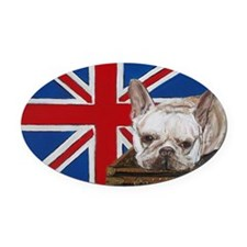 FrenchBull 5x7 Oval Car Magnet