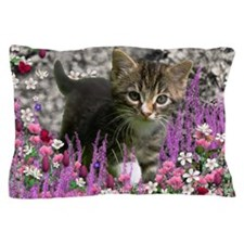 Emma Gray Tabby Kitten Pillow Case