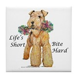 Bite Hard Lakeland Terrier Tile Coaster