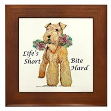 Bite Hard Lakeland Terrier Framed Tile