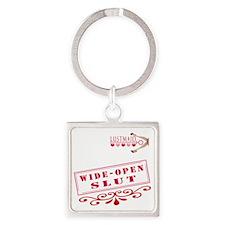 WIDEOPEN--SLUT Square Keychain
