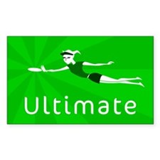 Ultimate Frisbee Rectangle Decal