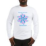 Blue/Pink Feet Refexology Long Sleeve T-Shirt